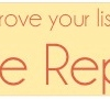 Improve your listings: Free Report